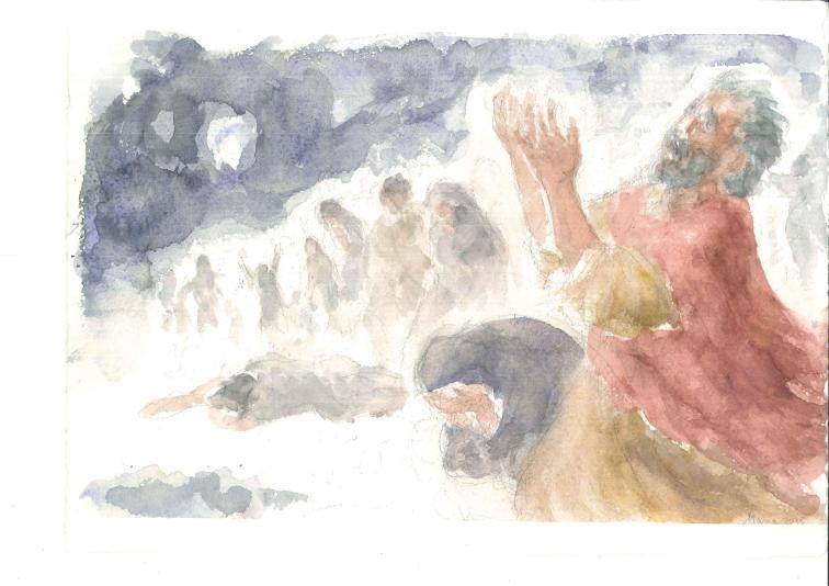 Vegliate pregando, Acquarello di Maria Cavazzini Fortini, novembre 2015