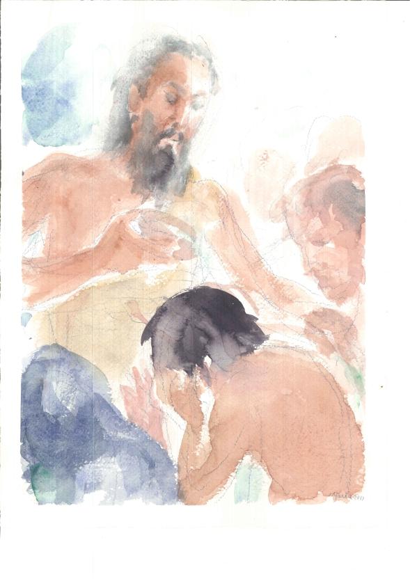 Giovanni battezza nel Giordano