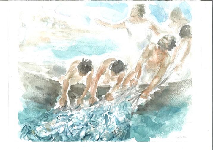 E' il Signore! acquarello di Maria Cavazzini Fortini, aprile 2016