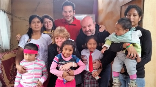 Damaris, Silvia, Valentina, Paolo, Giuliana, Giacomo Jennifer, Milagros, Graciela e il suo ultimogenito, luglio 2016