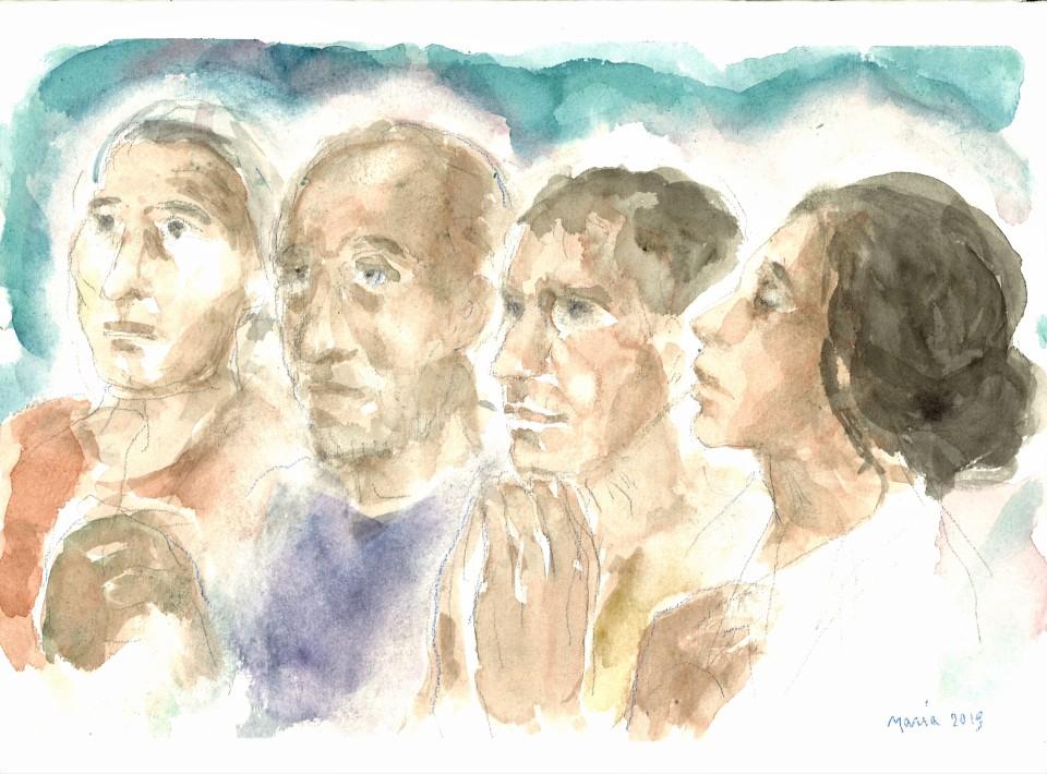 Discepoli in preghiera (Lc 17)