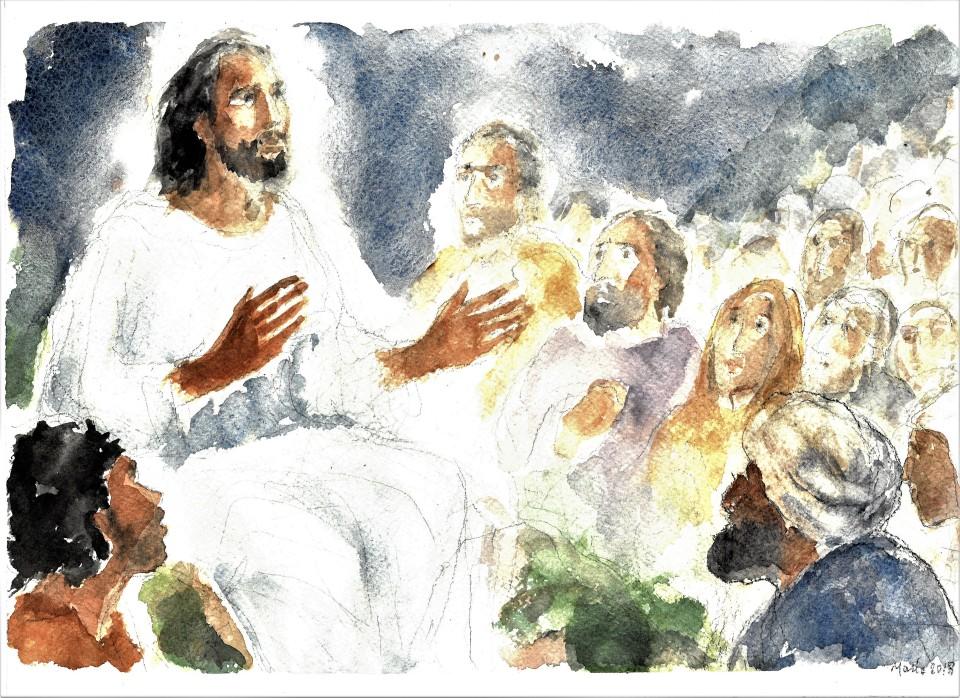 Gesù annuncia le Beatitudini