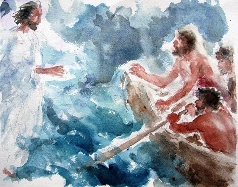 Gesù cammina sul mare