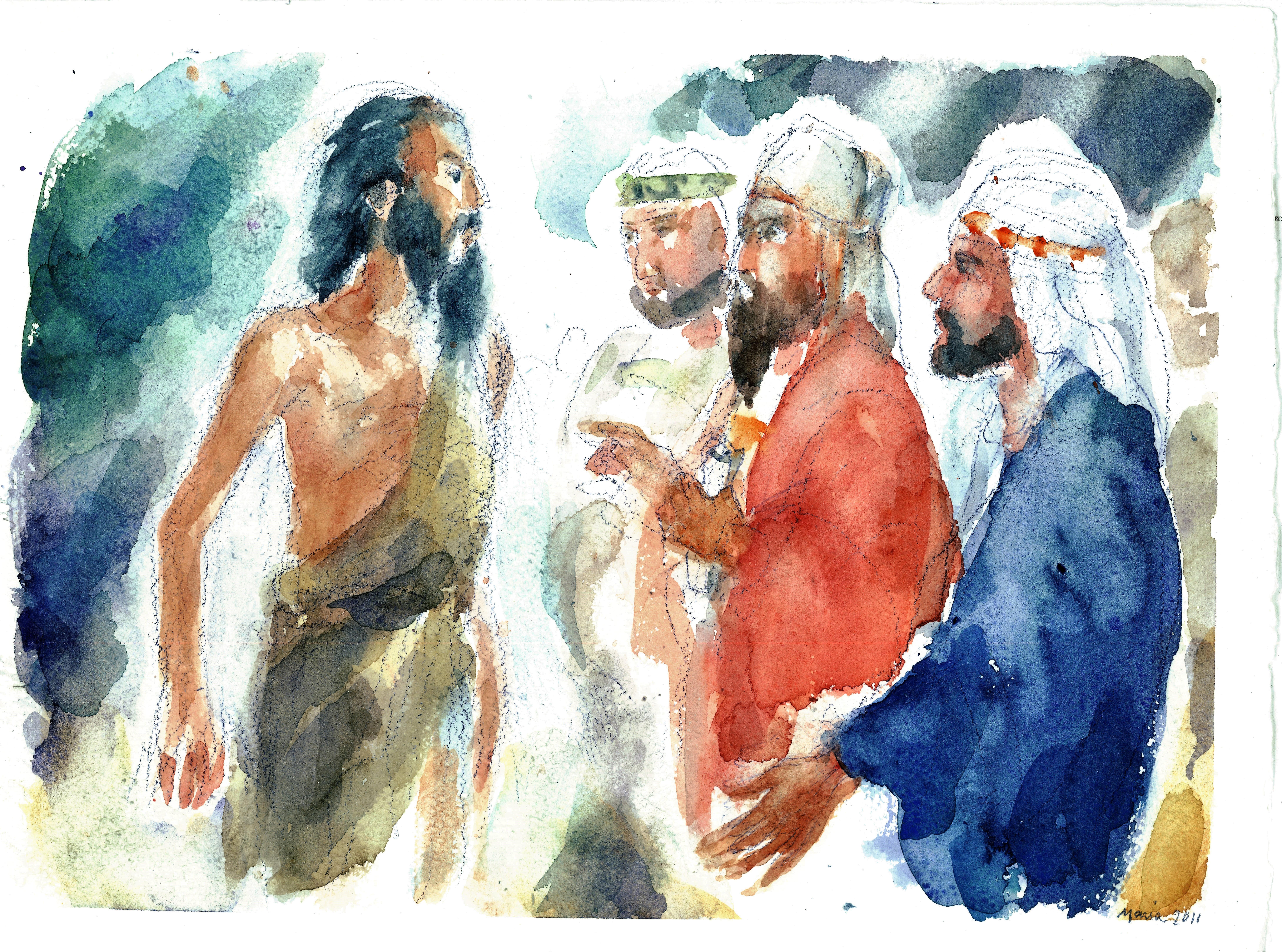 Giovanni con i farisei e i sadducei